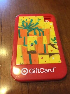 TARGET Collectible Gift Card Tile Slide Puzzle Game No Value