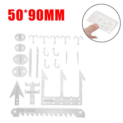 Camping Survival MultiTool Card Wilderness Survival Gear Kit for Hunting Hiking