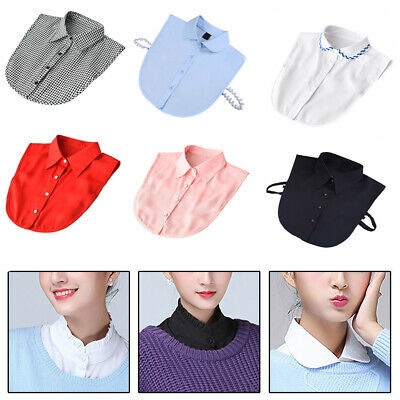 Choker Necklace Unisex Women Detachable Lapel Shirt Fake False Collar