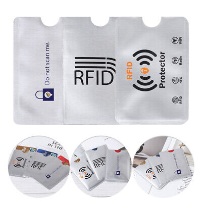 10PCS Anti Theft for RFID Credit Card Protector Blocking Sleeve Skin Case~~