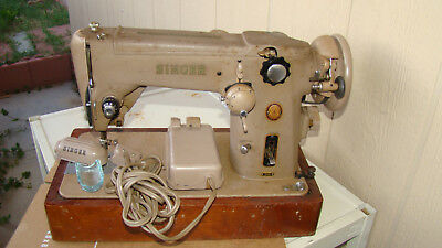 Vintage Industrial Strength Singer 306W Sewing Machine with Case