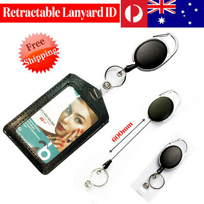 Retractable Lanyard ID Badge Opal Card Holder Business Security Pass Card AU