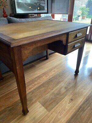 Stunning vintage antique double sided desk