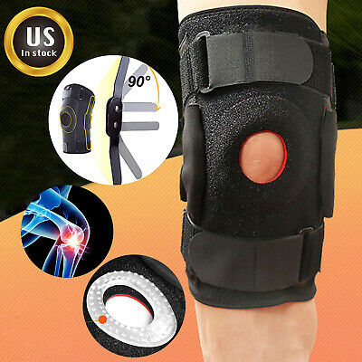 Knee Brace Hinged Jiont Support Open Patella Stabilizer Sports Arthritis Relief
