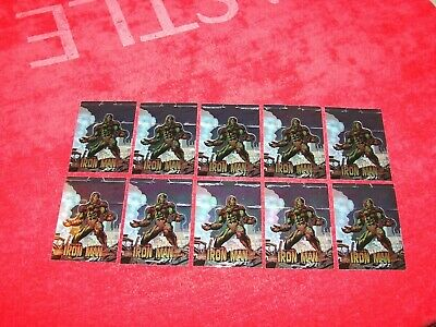 1997 Wizard Iron Man Fold Out Chromium Promo Card Lot Of 10 (18-47)