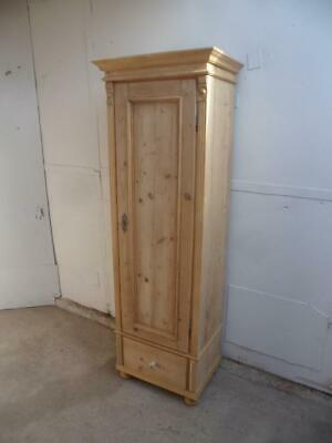 A Lovely Thin Antique/Old Pine 1 Door Pin Hinged Kitchen Cupboard to Wax/Paint