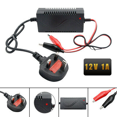 12V Volt Smart Lead Acid Battery Charger For Toy Car Motorbike Quad Bike 5-10 ah