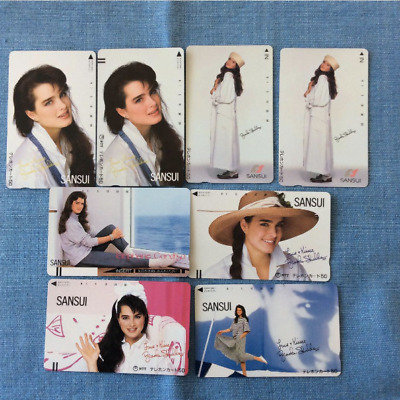 Brooke Shields Phone Card Prepaid card 8 SET Limited Japan Rare Item F/S
