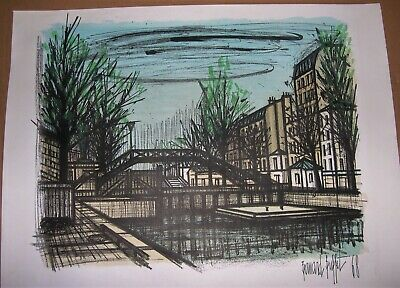 Awe Inspiring Canal St Martin Lithograph Bernard Buffet Listed French Artist Home Interior And Landscaping Ologienasavecom
