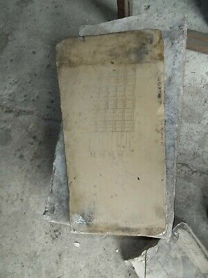 Rare Antique Victorian Lithograph Stone Printing Block Advertising