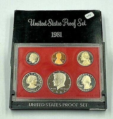 1981 United States Proof Coin Set - 6 Coins - Brillant, Uncirculated