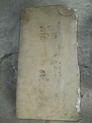 Rare Antique Victorian Lithograph Stone Printing Block Advertising,