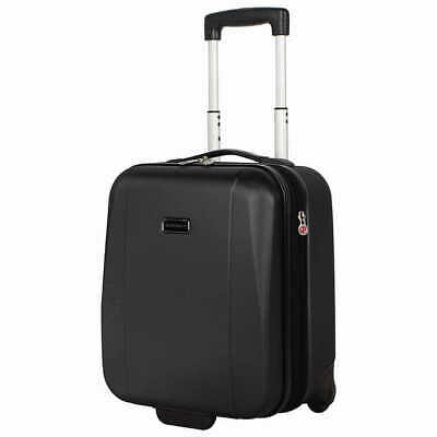 "Ciao Underseat Hardside Carry-On 2"" Expandable Luggage Black Color"