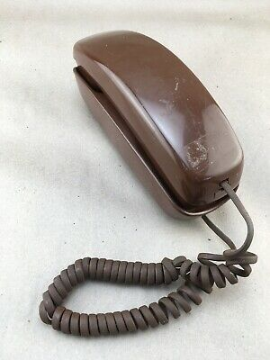 Vintage Western Electric Brown Slimline Wall Touch Tone Telephone
