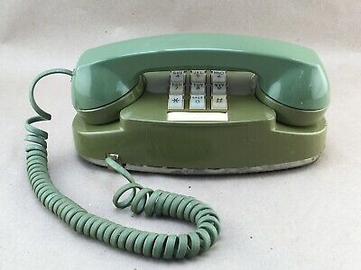 Vintage Western Electric Avocado Green Princess Phone Lighted Touch-Tone Dial