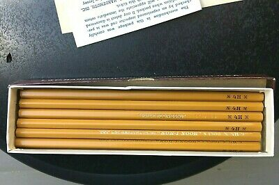 Vintage Kohinoor Hardtmuth drawing writing pencils 1500 4H unused orig box 1950s
