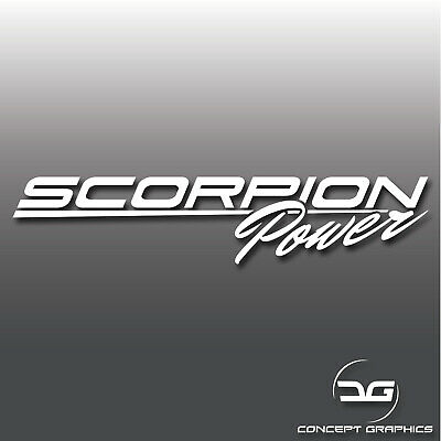 Scorpion Power Abarth Fiat 500 595 Italian Car Vinyl Decal Bumper Stickers