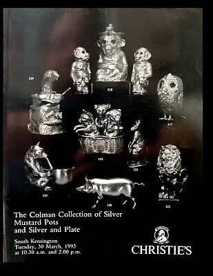 Christies Auction The Colman Collection Of Silver Mustard Pots 1993 -X