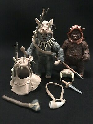 Star Wars TRU Exclusive Ewok Teebo & Tippet Action Figures Complete Toys R Us