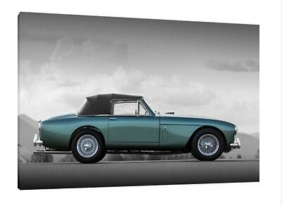 1954 Aston Martin DB2//4-30x20 Inch Canvas Classic Framed Picture Print