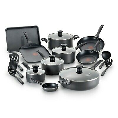 T-FAL NONSTICK COOKWARE Set 12 Piece Pots & Pans Dutch Oven ...
