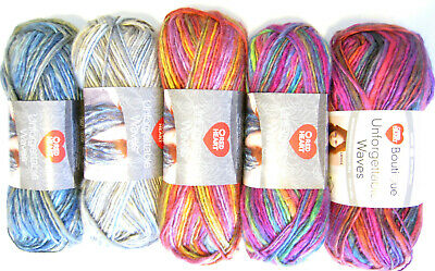 Red Heart UNFORGETTABLE WAVES Yarn - Thick & Thin - Soft Acrylic - Color Choice