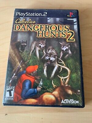 Cabela's Dangerous Hunts 2 (Sony PlayStation 2, 2005) PS2 Complete With Manual