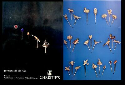 CHRISTIES  Tie-Pins & Cuff-Links Auction Catalog London 11/11/1992 All COLOR  -Z