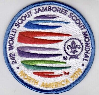 24th World Scout Jamboree 2019 Adult Leader Patch Blue Border :: Rare, Mint, New
