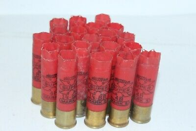 Lot of 20 Shotgun Shell Empty 12 Gauge Western Super Mark 5 Red