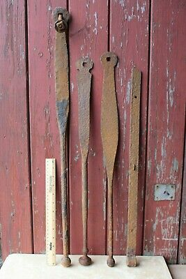 Antique Iron Gate Levers Re-use or Up-cycle Coat Hooks Rack Old Original