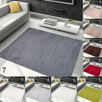 Thick Pile Shaggy Area Floor Rugs Small Extra Large Soft  Modern Design Carpets