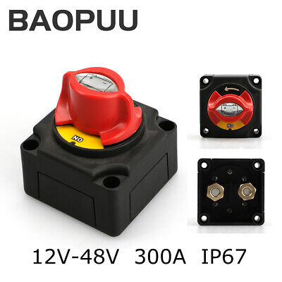 12-48V 300A Battery Isolator Disconnect Switch Power Cut Off On for Marine Boat