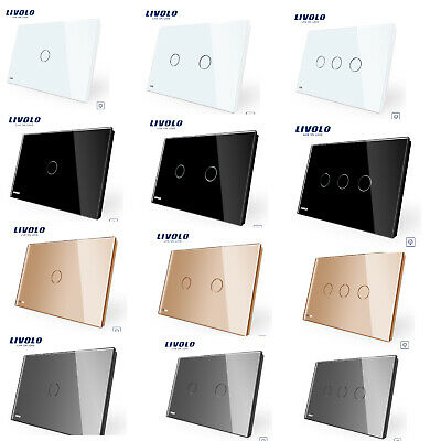 Livolo US/AU Type 1/2/3Gang Dimmer Touch Switch