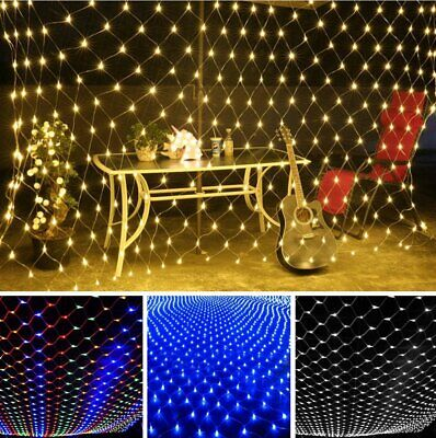 Waterproof Net Mesh Fairy String Party Lights Curtain Xmas Wedding Party Decor
