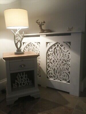 Gothic Baroque Radiator Cover - Unpainted - Contemporary Cabinet - FAST!