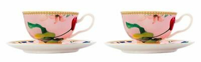 Maxwell & Williams Teas & C's CONTESSA PINK Footed Tea Cup & Saucer 200ml NEW