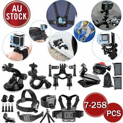 For GoPro Hero 7 6 5 4 3 Accessories Pack Kit Head Chest Monopod Bike Surf Mount