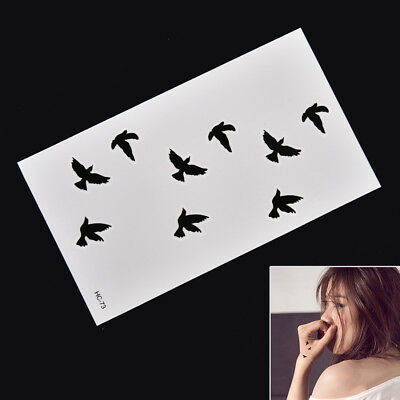 Removable Swallow Temporary Tattoo Large Arm Body Art Tattoos Stick Waterproo KY