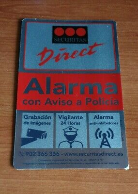 Placa Disuasoria de Alarma Securitas Direct