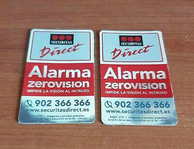 Dos Carteles Disuasorios Alarma, Securitas Direct