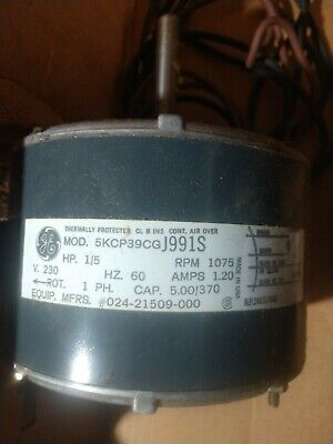 General Electric Condenser FAN MOTOR 1/5 HP 230v 022509000 024-21509-000