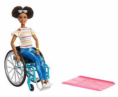 Barbie Fashionistas Doll 133 Wheelchair Deluxe Doll New Exclusive Fashionistas