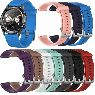 22mm Silicone Sport Wrist Watch Band Strap For Various Smart Watch Replacement