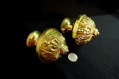 Vintage Heavy Brass Finials French Furniture Architectural Salvage Home Decor