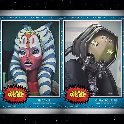 Topps Star Wars Living Set 2-card Bundle #27-#28 Shaak Ti & Quay Tolsite.