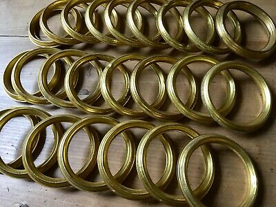 Curtain Rings Antique Brass French Vintage Gilt Rail X24 ID 50mm