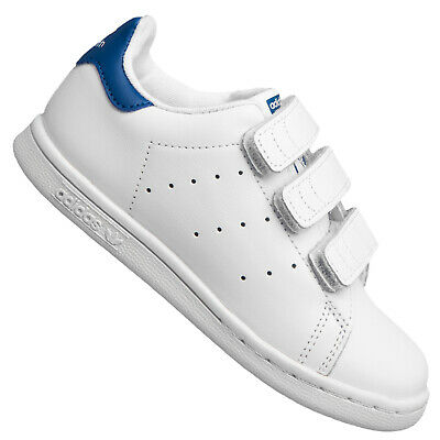 Adidas Originals Stan Smith Trainers Children Trainers Leather Shoes White Blue