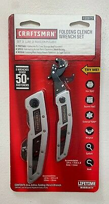 """Craftsman Folding Clench Wrench Set (6"""", 8"""") - Part # 30879"""