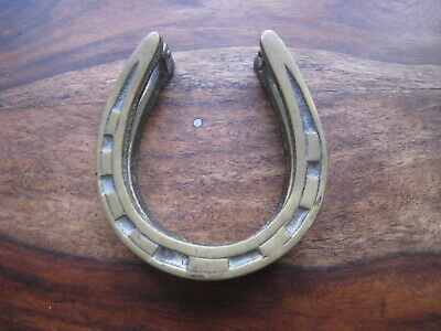 Vintage Brass Horseshoe Door Knocker